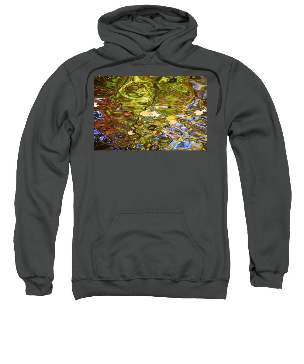 Blue Sweatshirt featuring the photograph Colors Collide by Frozen in Time Fine Art Photography