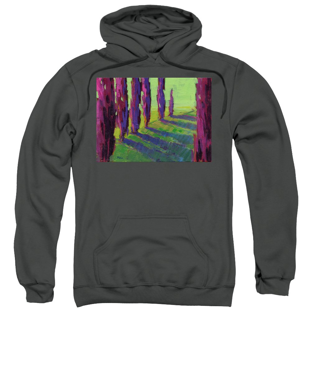 Konnie Kim Sweatshirt featuring the painting Colors Of Summer 1 by Konnie Kim