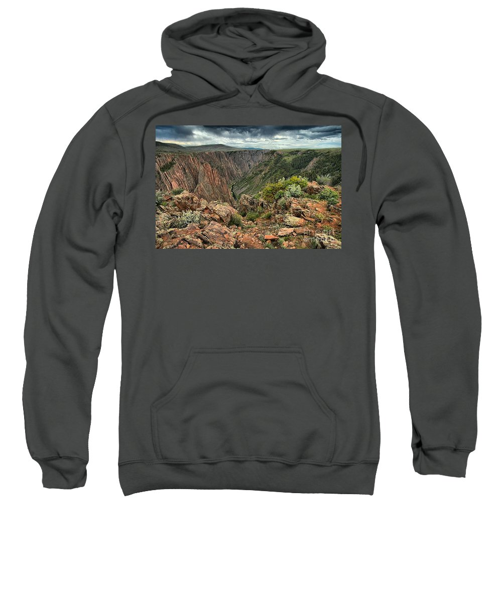 Black Canyon Sweatshirt featuring the photograph Colors Of The Black Canyon by Adam Jewell