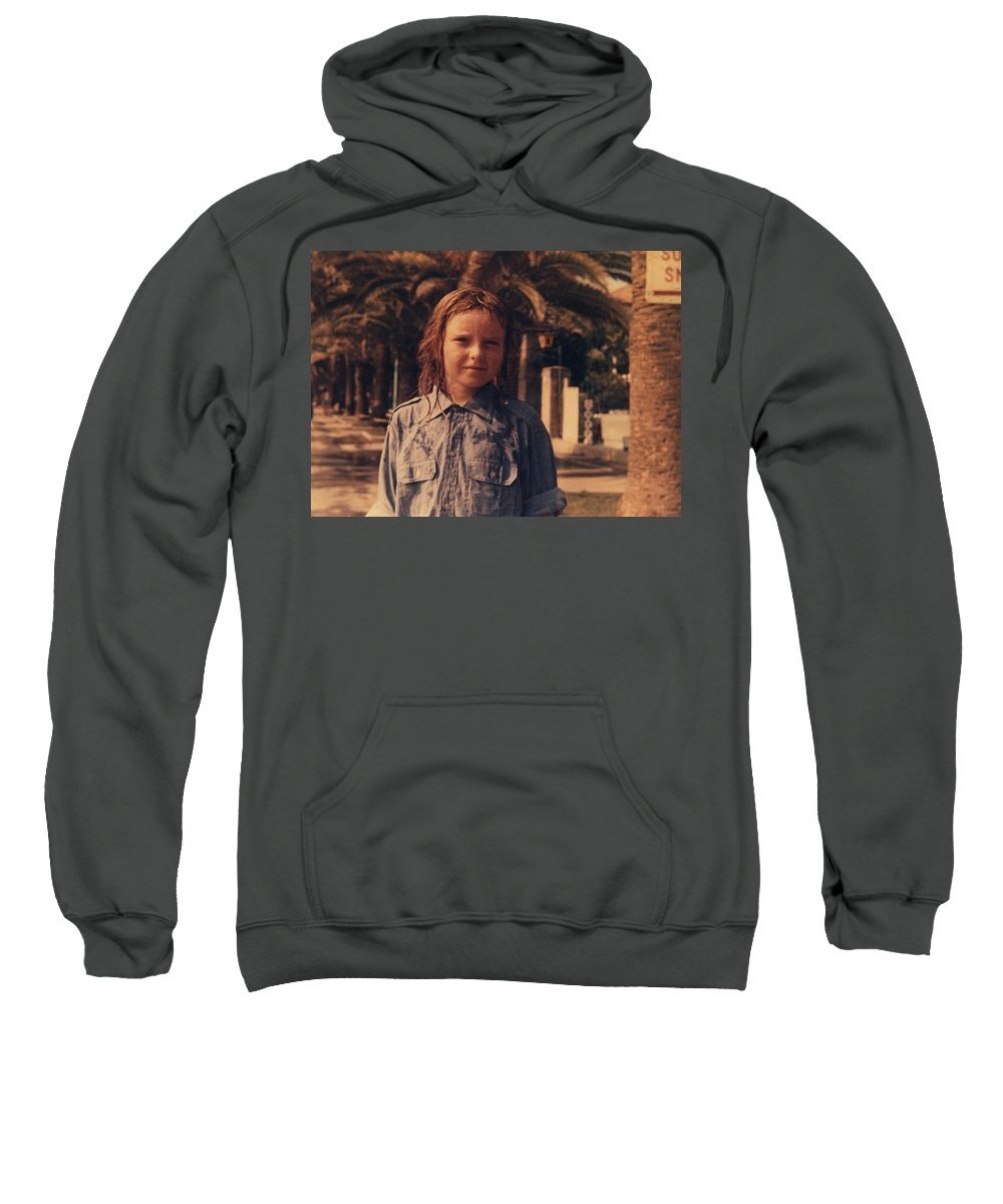 Colette Sweatshirt featuring the photograph Colour Original Photography Colette Summer Diano Marino 67 Italy by Colette V Hera Guggenheim