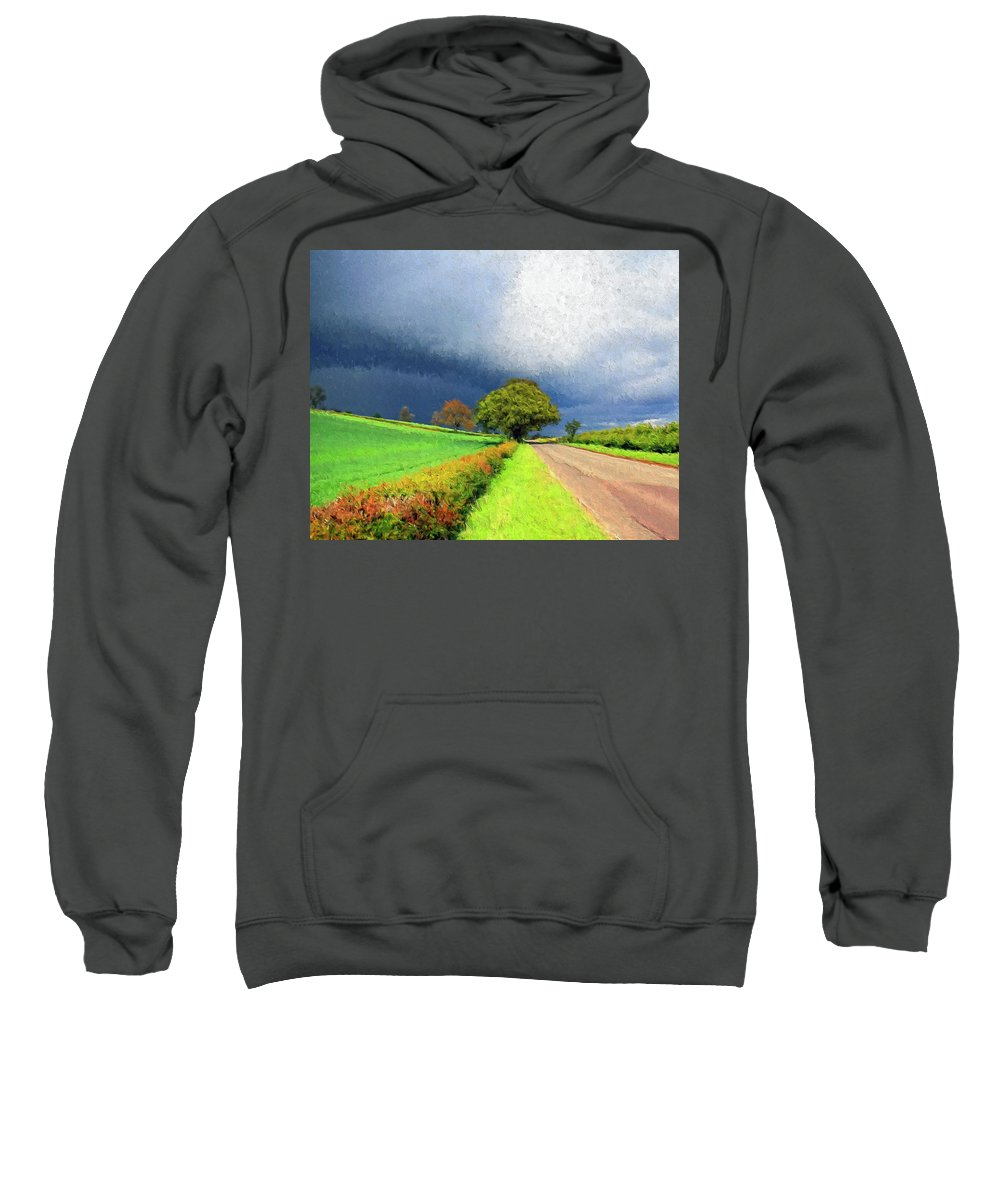 Storm Sweatshirt featuring the painting Coming This Way by Dominic Piperata