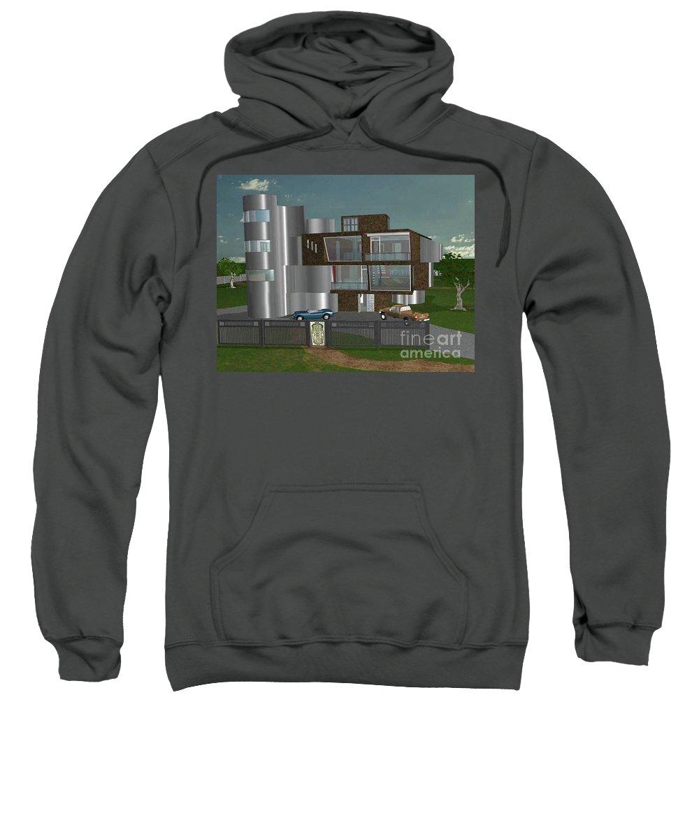 Concept Home Sweatshirt featuring the digital art Concept Home by Peter Piatt
