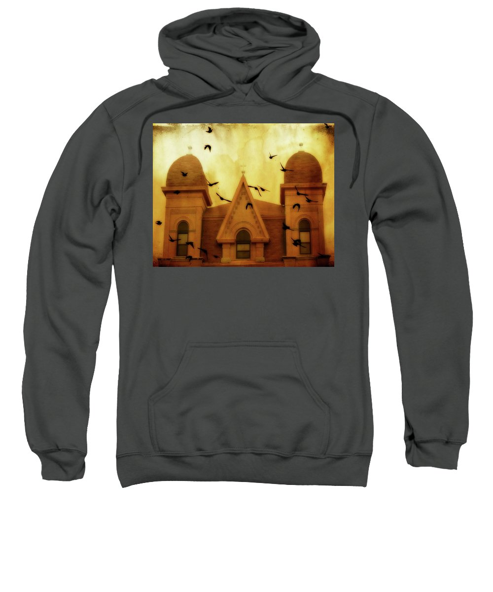 Church Sweatshirt featuring the photograph Congregation by Gothicrow Images
