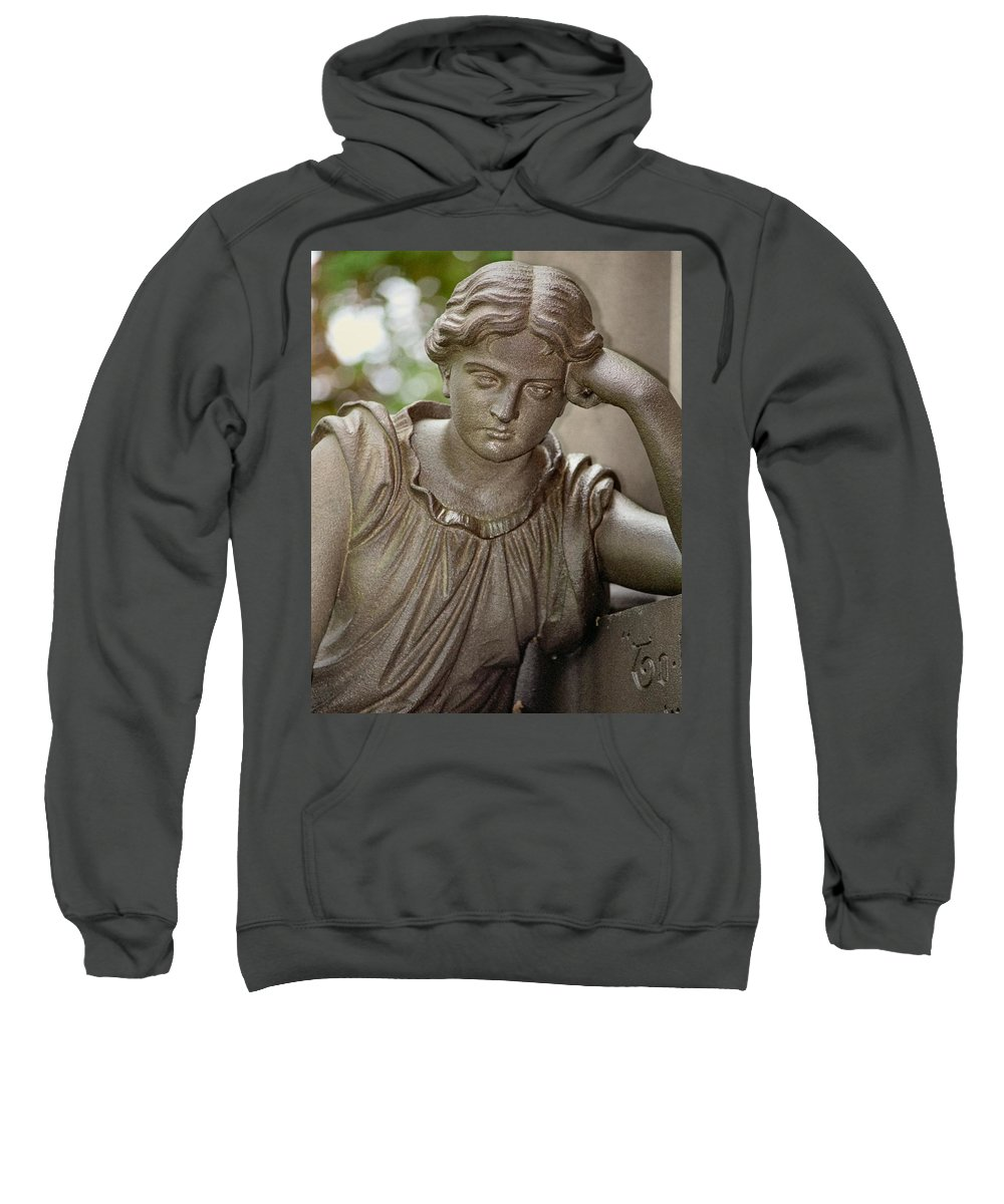 Stone Statue Sweatshirt featuring the photograph Contemplate by Gothicrow Images