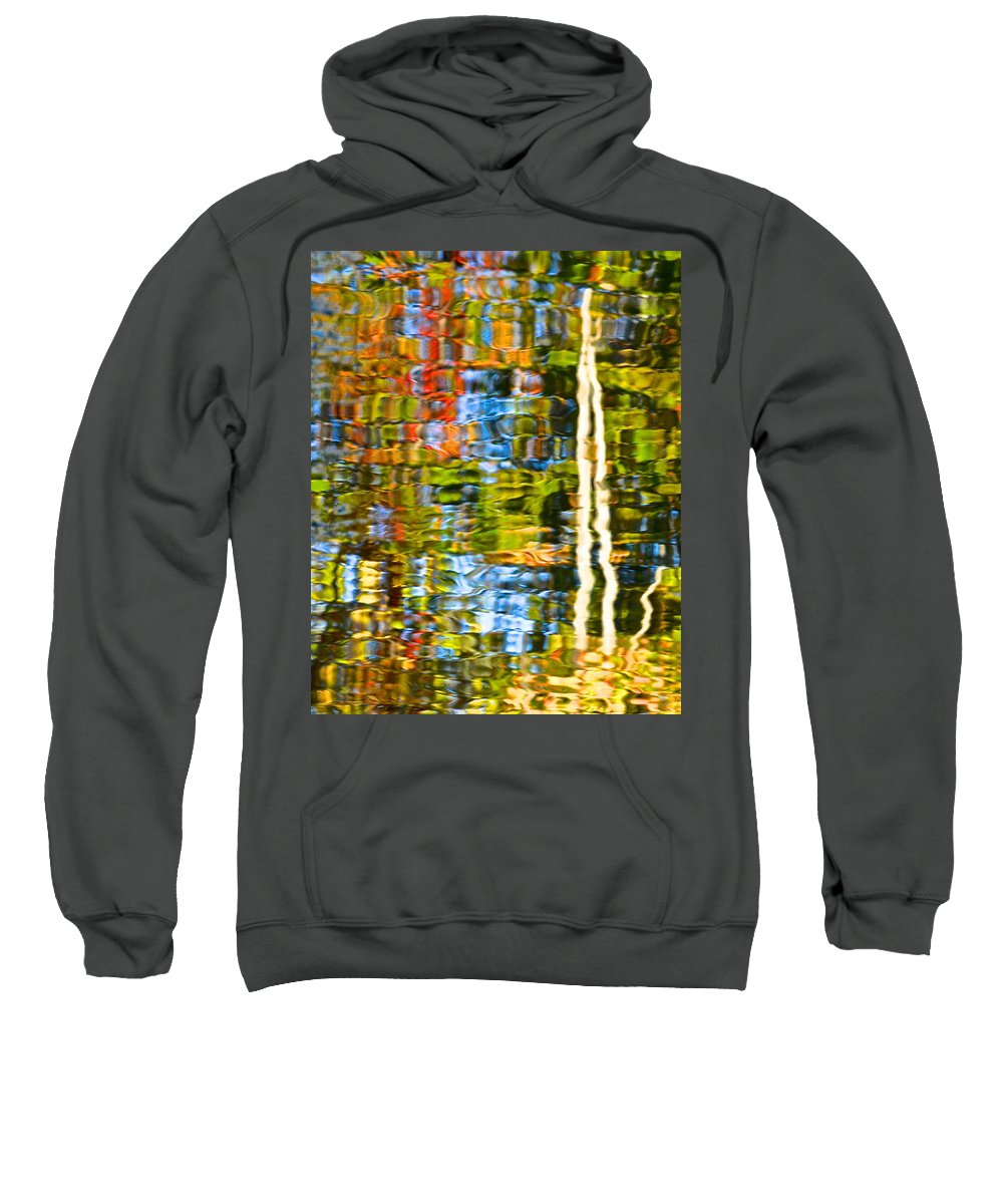 Water Sweatshirt featuring the photograph Contorted Clarity by Frozen in Time Fine Art Photography