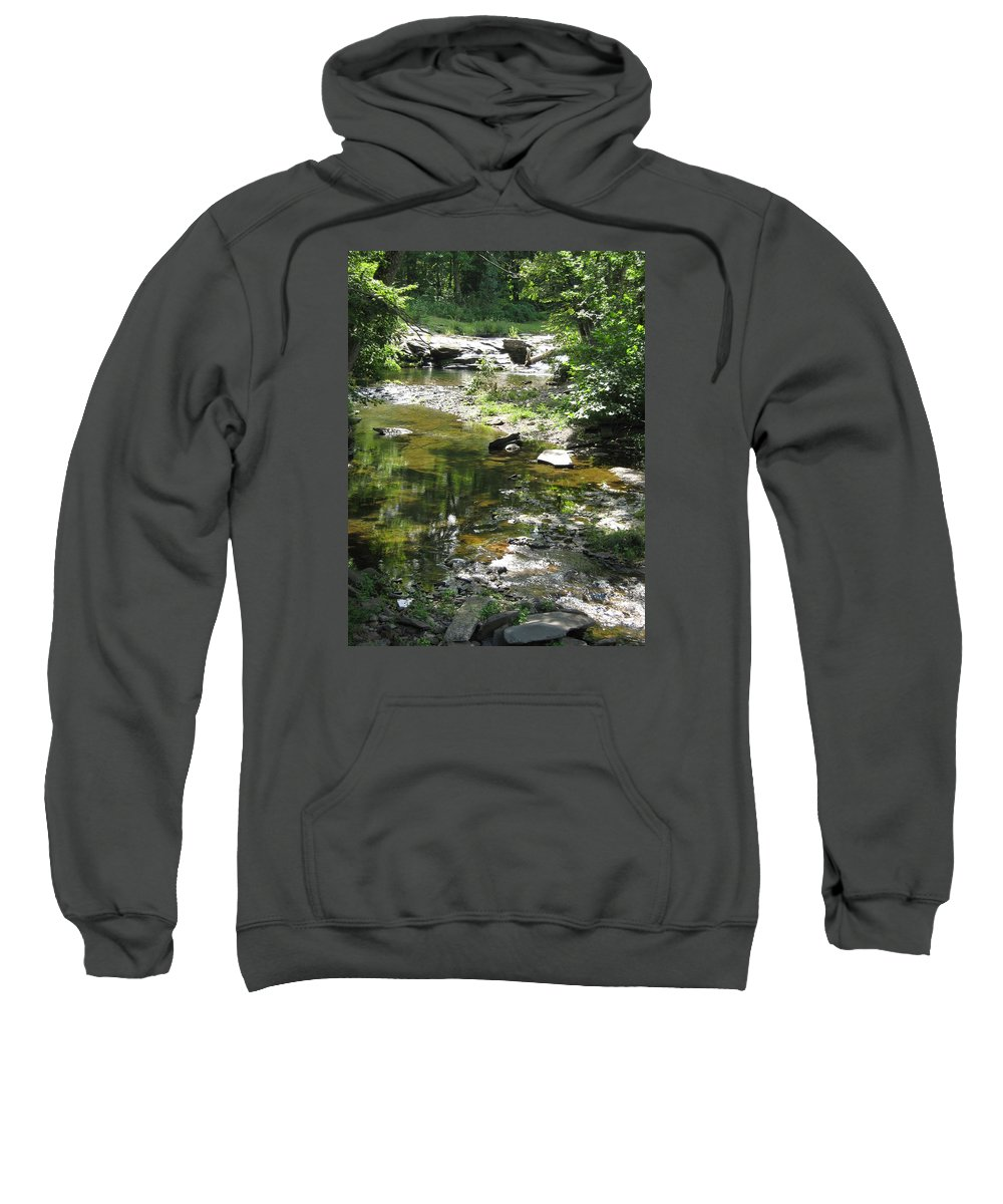 Creek Sweatshirt featuring the photograph Cool Waters by Ellen Levinson