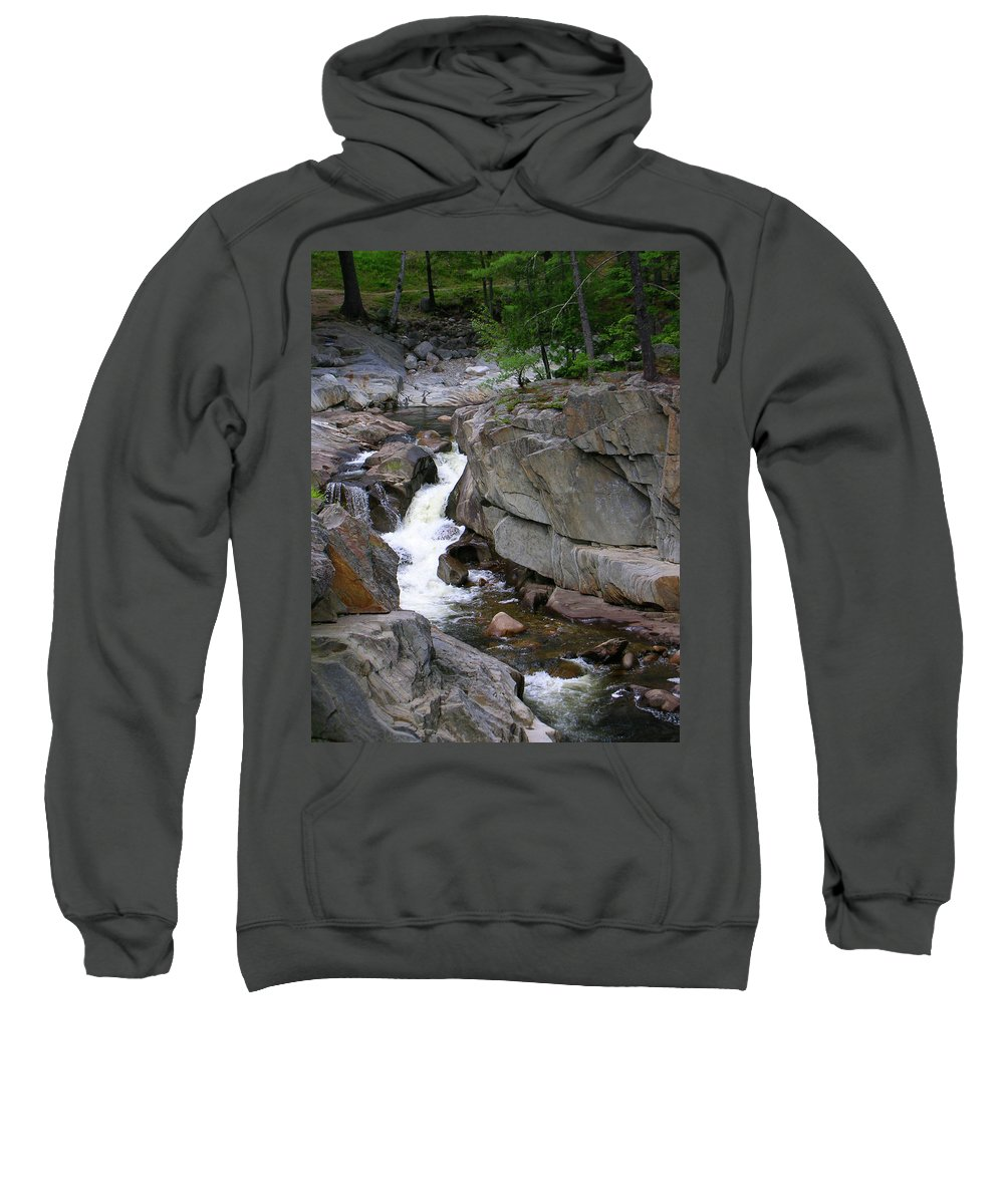 Waterfalls Sweatshirt featuring the photograph Coos Canyon 1558 by Guy Whiteley