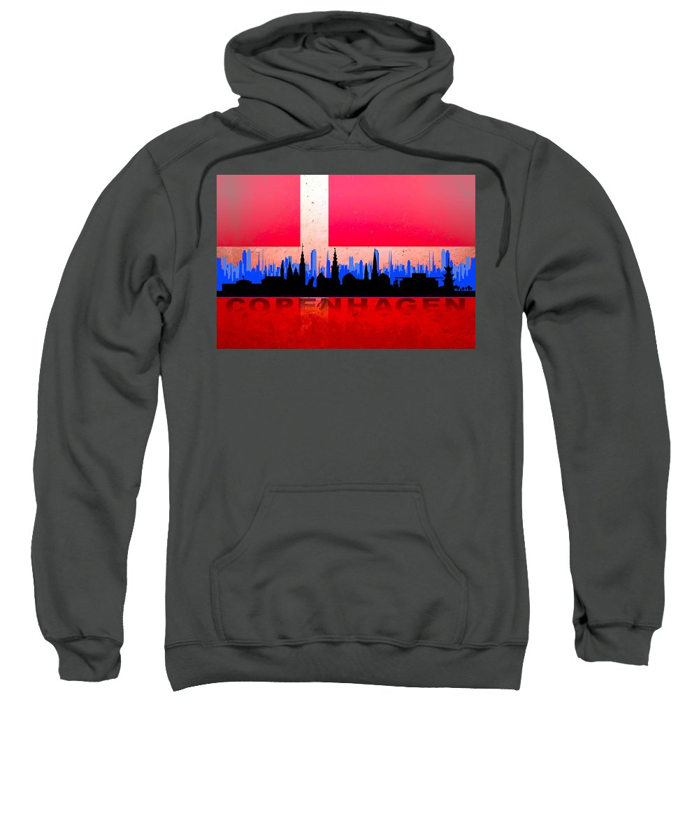 Architecture Sweatshirt featuring the digital art Copenhagen City by Don Kuing