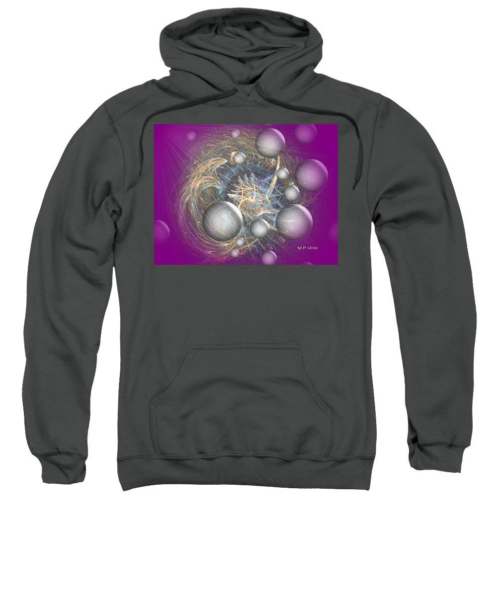 Cosmic Purple Sweatshirt featuring the digital art Cosmic Purple by Maria Urso