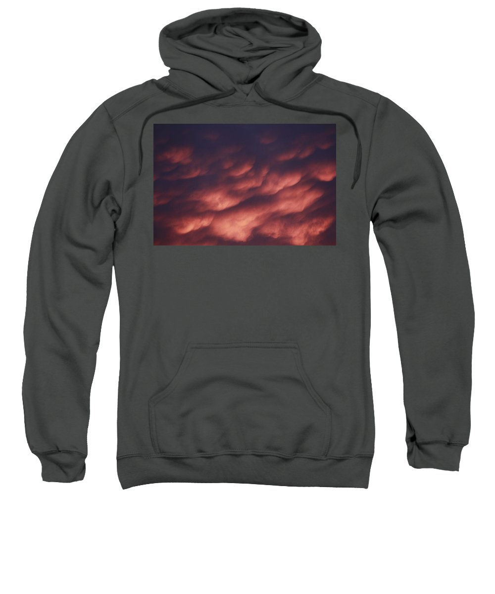 Scenic Sweatshirt featuring the photograph Cotton Candy Clouds by Phyllis Bradd