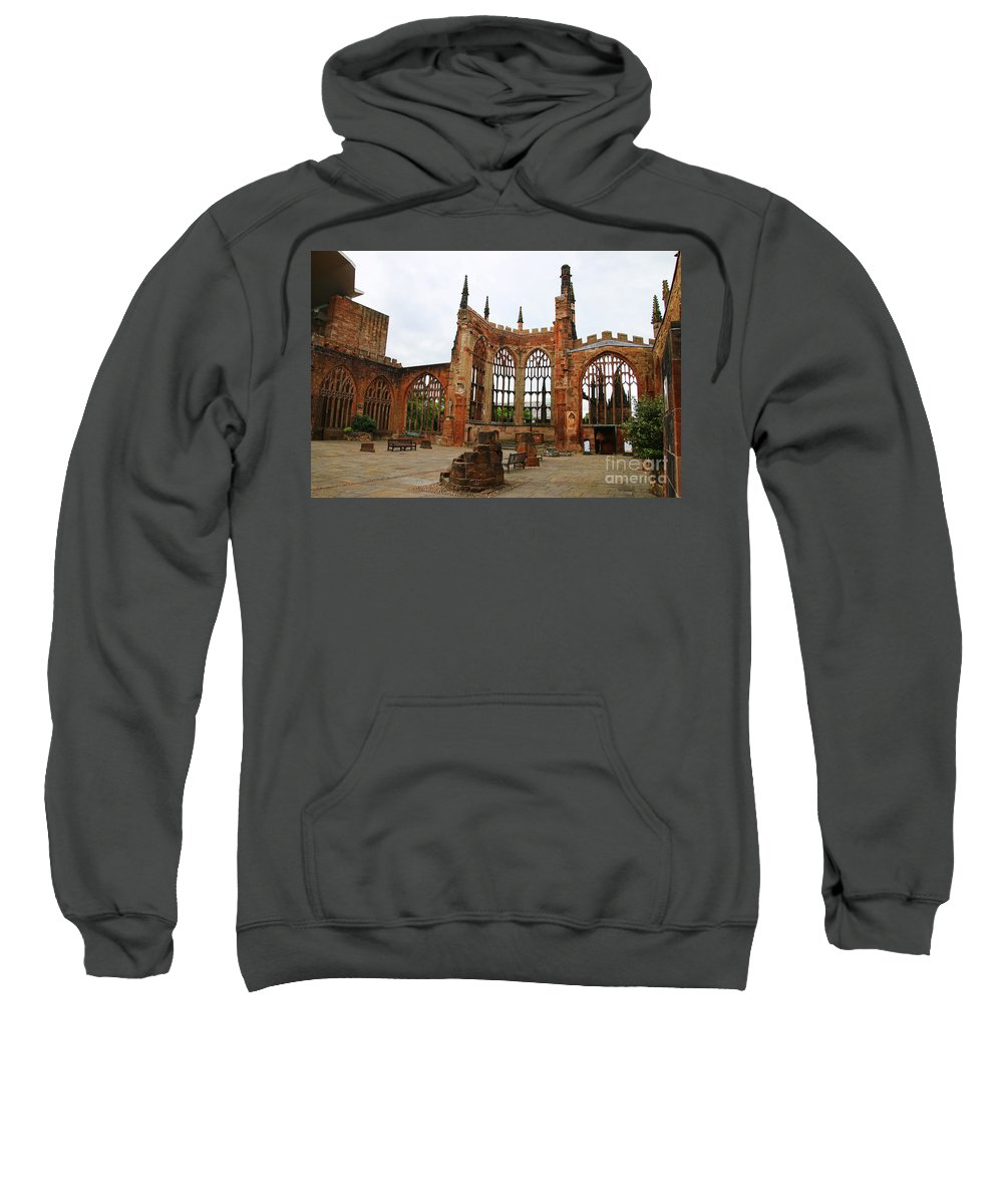 Coventry England Sweatshirt featuring the photograph Coventry Cathedral 6003 by Jack Schultz