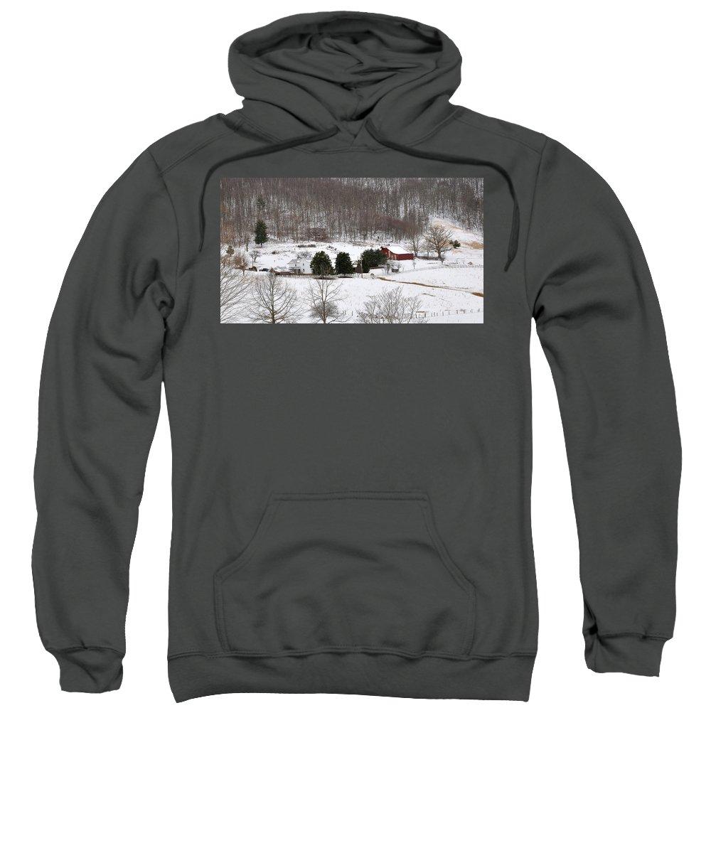 Craig County Farm Sweatshirt featuring the photograph Craig County Farm by Todd Hostetter