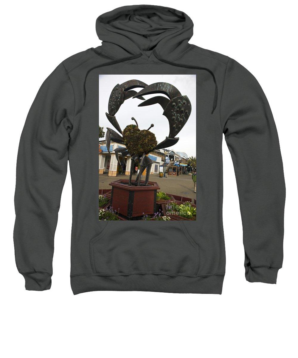 Travel Sweatshirt featuring the photograph Crap Sculpture Fisherman's Wharf San Francisco by Jason O Watson