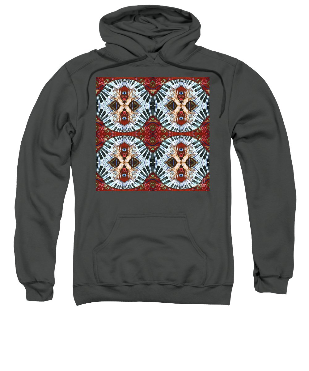 Pianos Sweatshirt featuring the painting Crazy Fingers Piano Tiled by Sue Duda