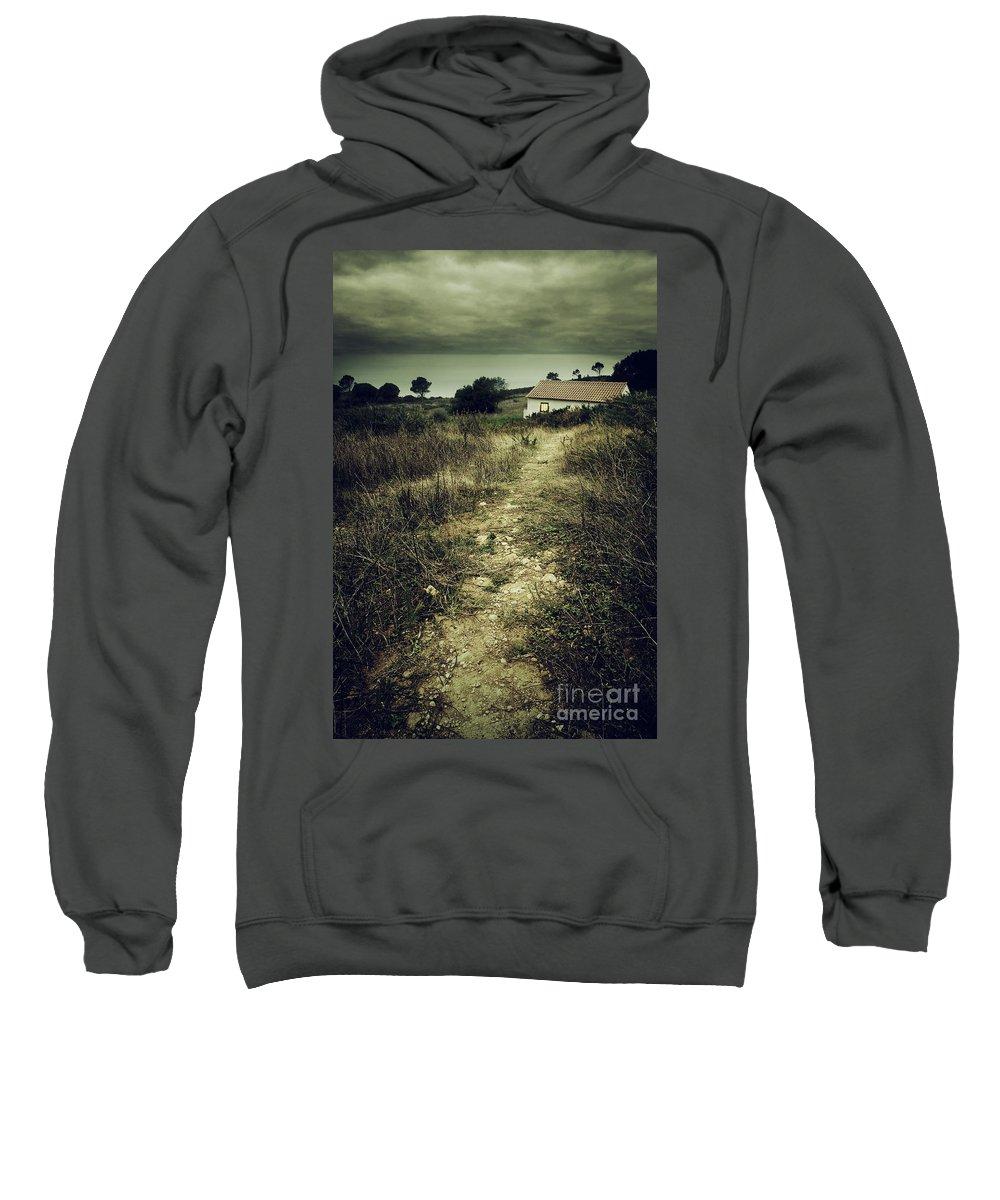 Abandoned Sweatshirt featuring the photograph Creepy Trail by Carlos Caetano