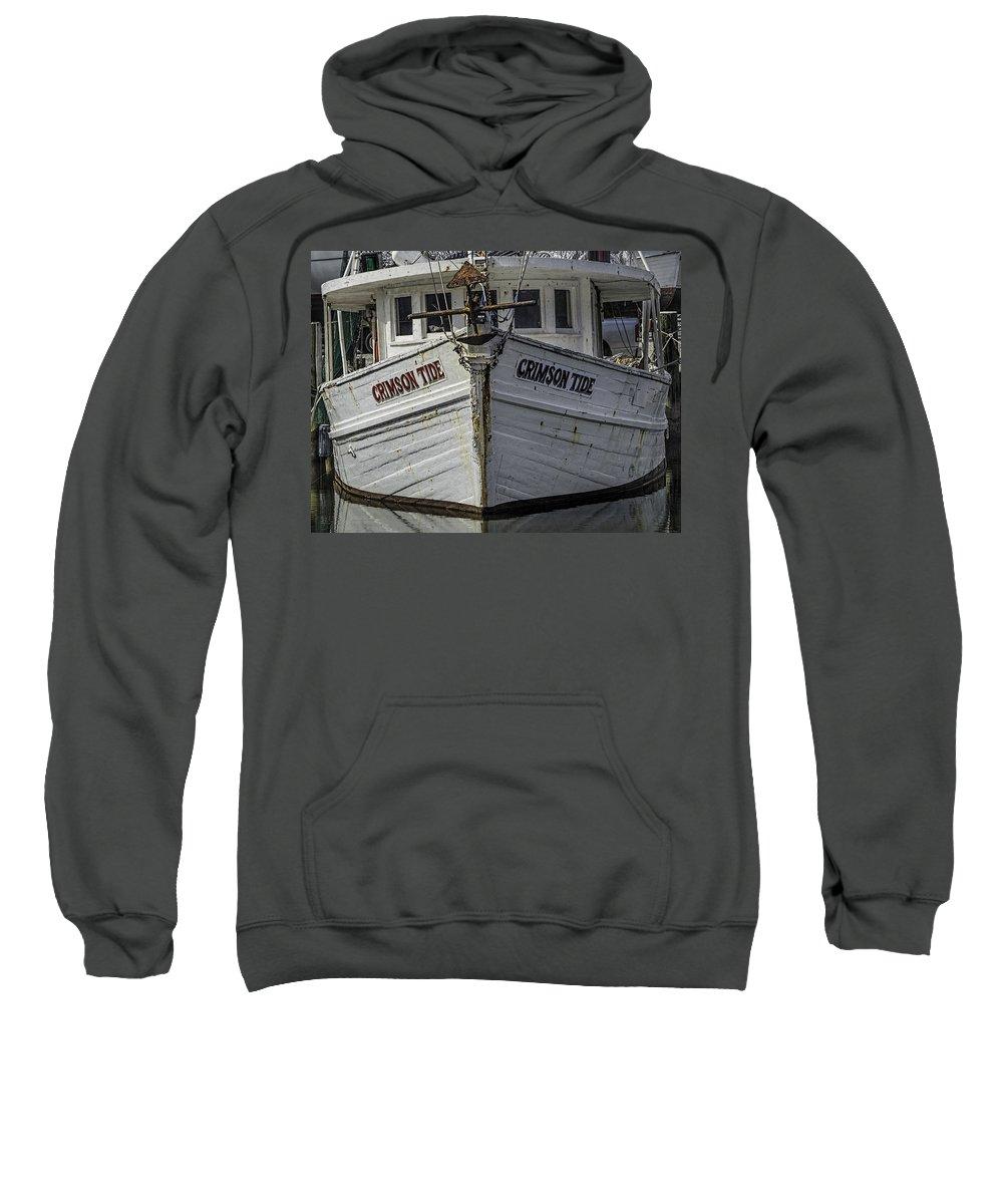 Water Sweatshirt featuring the digital art Crimson Tide Headon by Michael Thomas