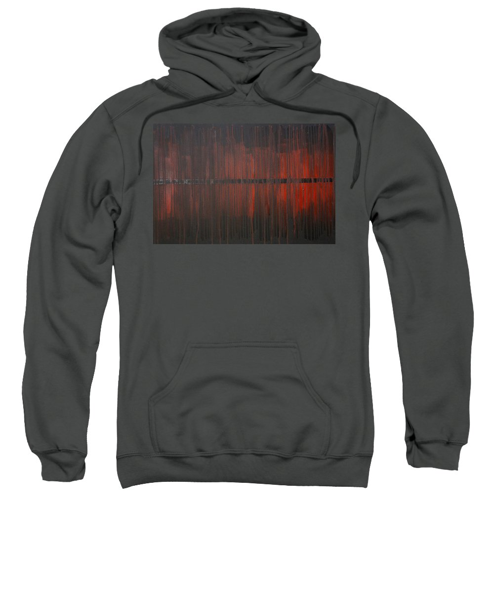 Fantasy Sweatshirt featuring the painting Cross the Line by Sergey Bezhinets