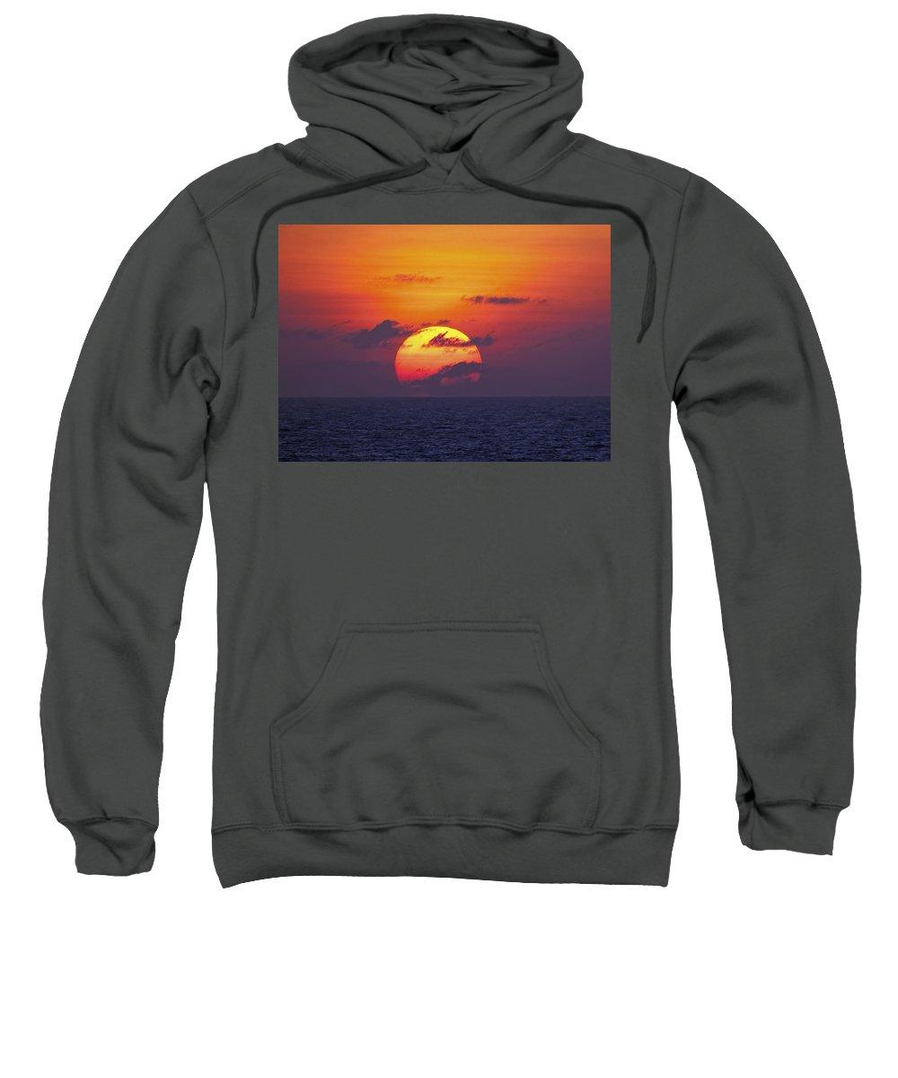 Sunset Sweatshirt featuring the photograph Cruise Sunset by Daniel Hagerman