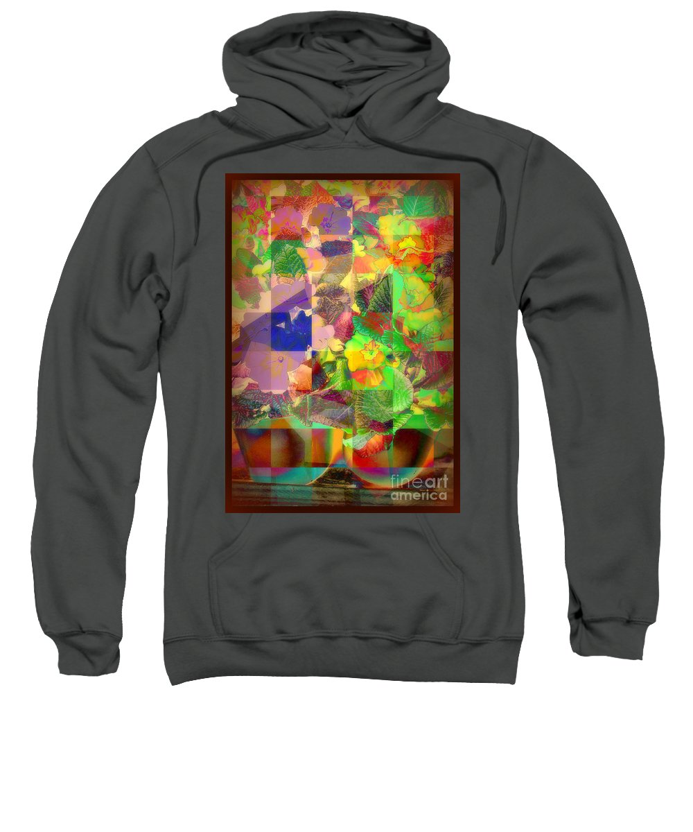Still Life Sweatshirt featuring the photograph Flowers In Round Bowls - Outdoor Markets Of New York City by Miriam Danar