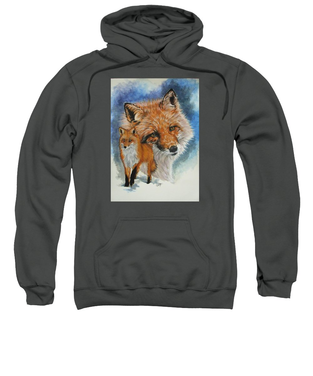 Fox Sweatshirt featuring the mixed media Cunning by Barbara Keith