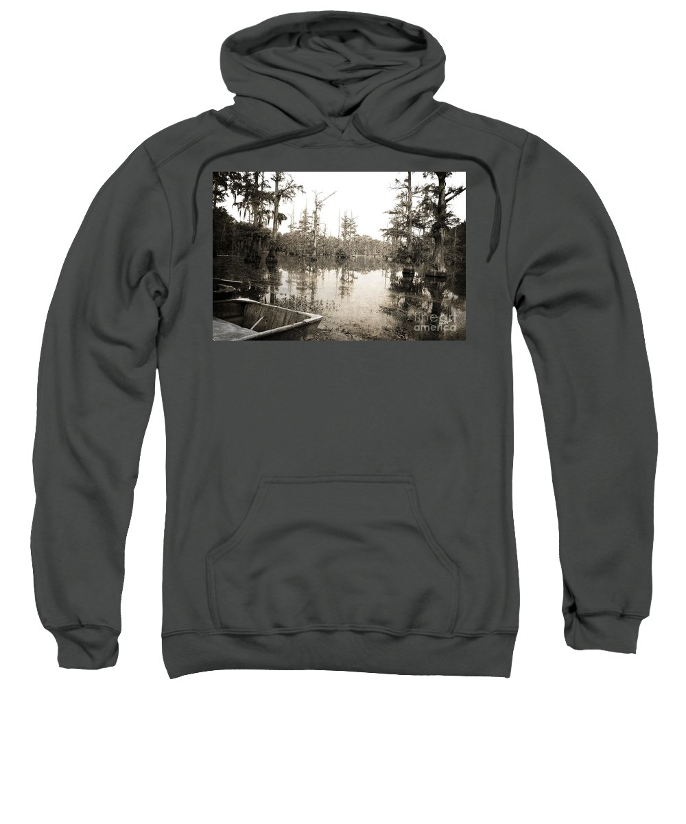 Swamp Sweatshirt featuring the photograph Cypress Swamp by Scott Pellegrin