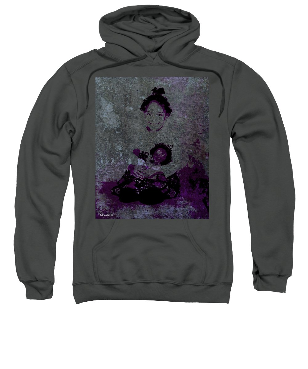 Daddys Girl Sweatshirt featuring the photograph Daddys Girl by Ed Smith