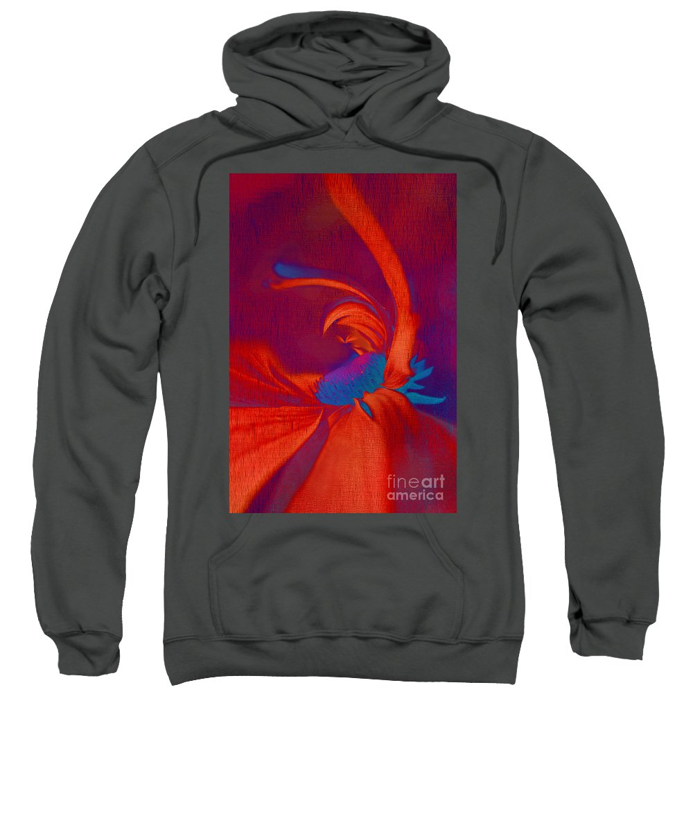 Red Sweatshirt featuring the digital art Daisy Fun - A03ct02 by Variance Collections