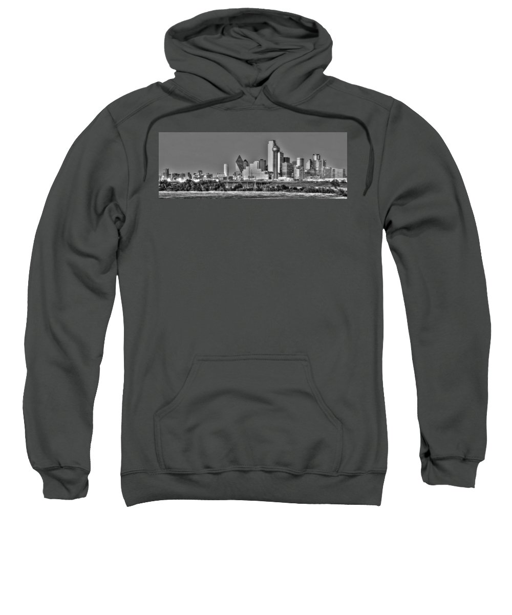Dallas Sweatshirt featuring the photograph Dallas The New Gotham City by Jonathan Davison