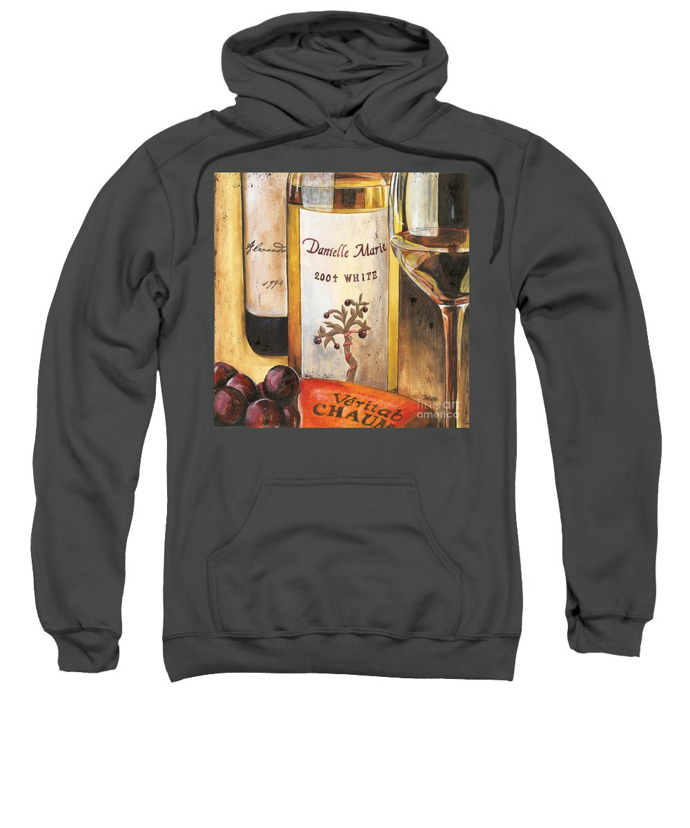 Red Grapes Sweatshirt featuring the painting Danielle Marie 2004 by Debbie DeWitt
