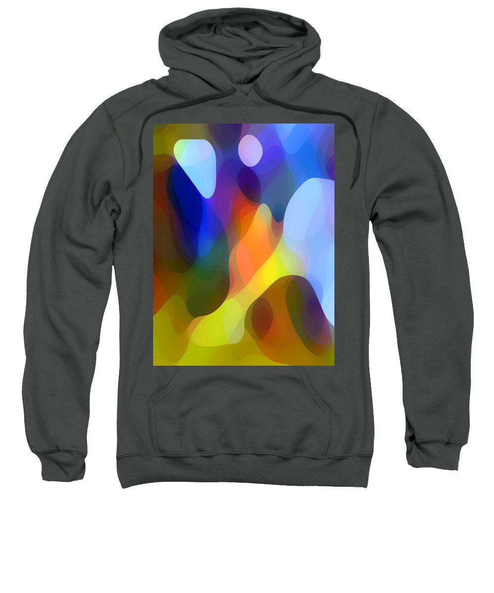 Abstract Art Sweatshirt featuring the painting Dappled Light by Amy Vangsgard