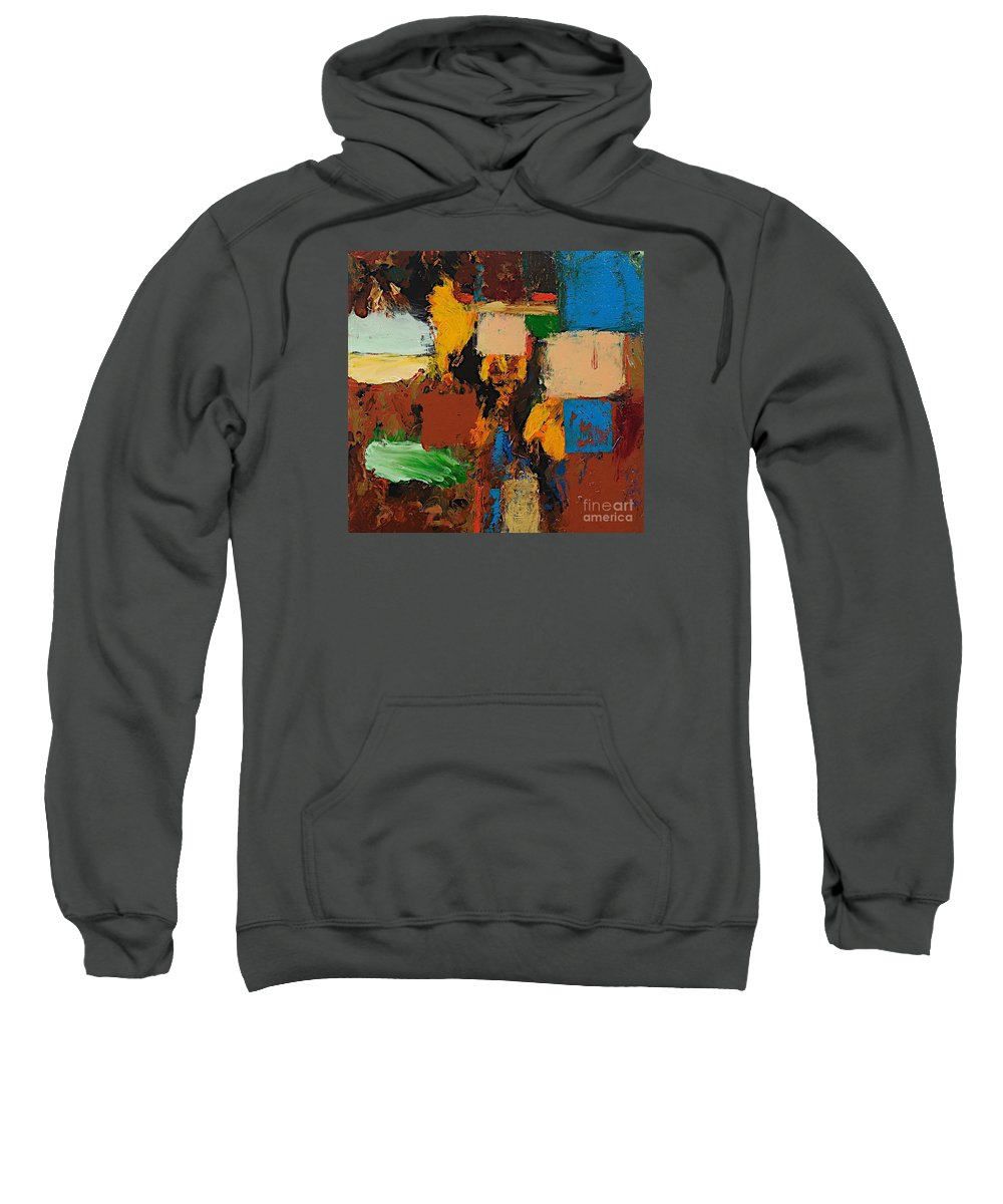Landscape Sweatshirt featuring the painting Dare Again by Allan P Friedlander