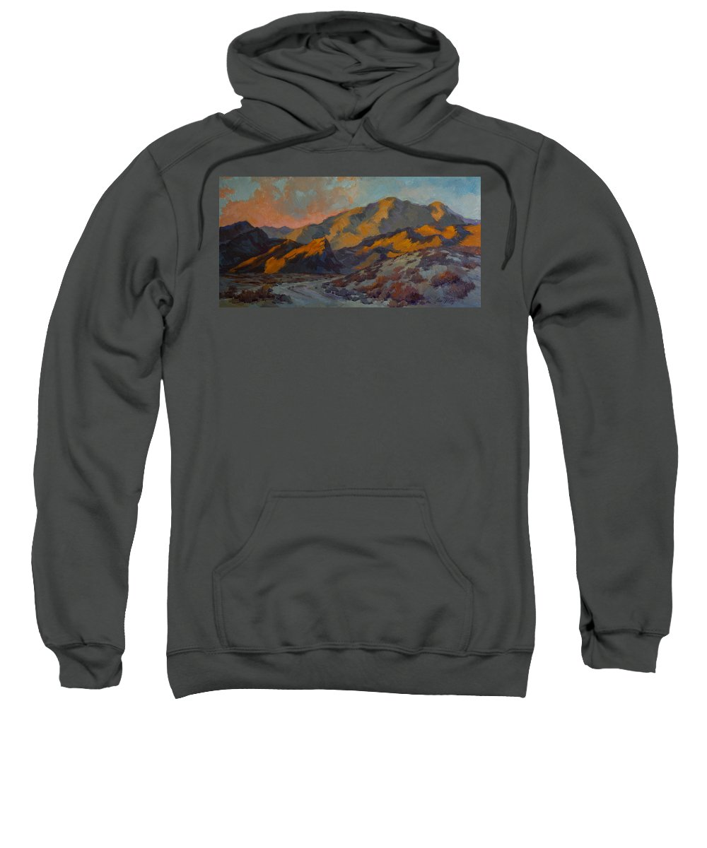 Dawn Sweatshirt featuring the painting Dawn At La Quinta Cove by Diane McClary