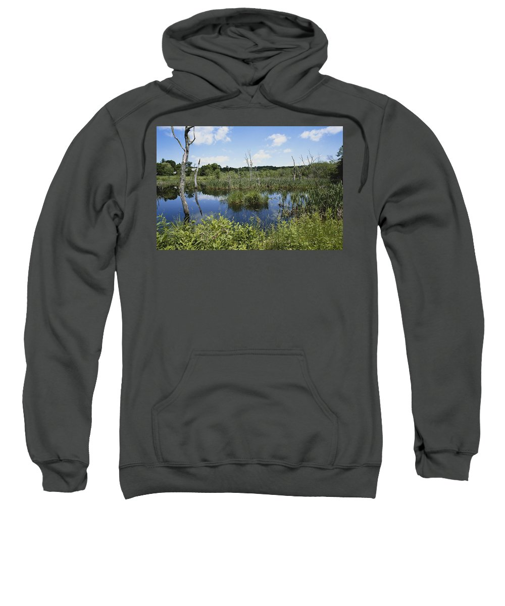 2003 Sweatshirt featuring the photograph Day Pond, Connecticut by John W. Bova