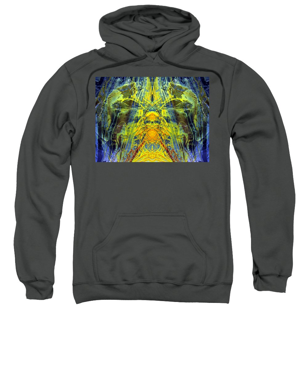 Surrealism Sweatshirt featuring the digital art Decalcomaniac Intersection 1 by Otto Rapp