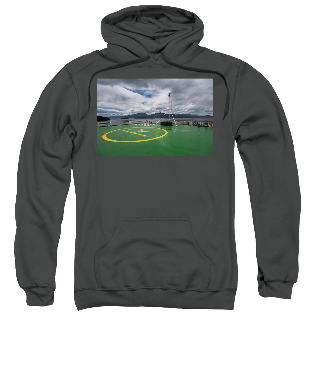 Horizontal Sweatshirt featuring the photograph Deck On The Navimag Ferry by Henn Photography