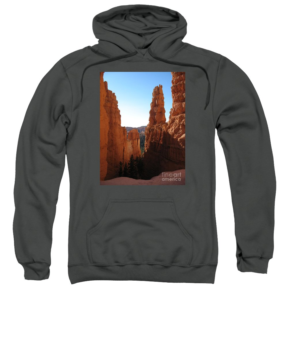 Canyon Sweatshirt featuring the photograph Deep Down - Bryce Canyon by Christiane Schulze Art And Photography
