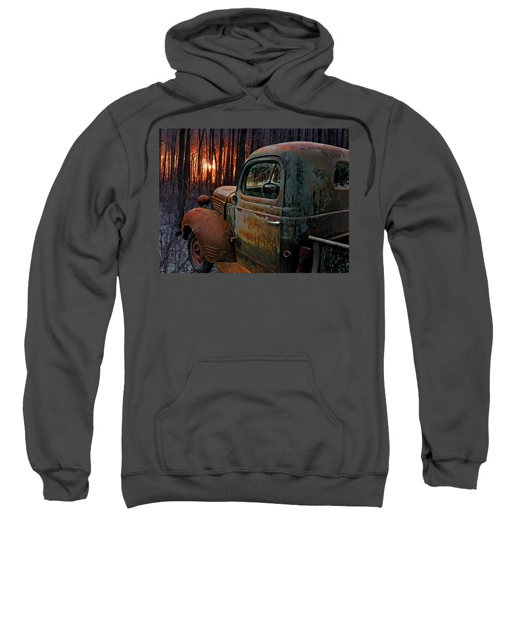 Pickup Sweatshirt featuring the photograph Deer Hunting by Ron Day