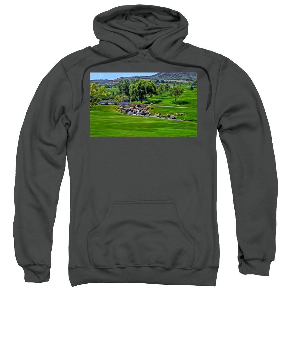 Golf Sweatshirt featuring the painting Del Mar Country Club by Michael Pickett