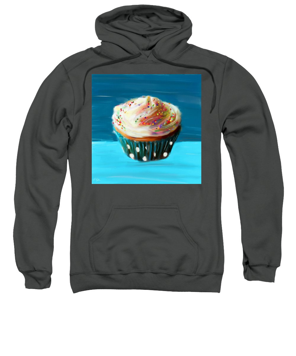 Cupcakes Sweatshirt featuring the digital art Delightful Sprinkles by Lourry Legarde