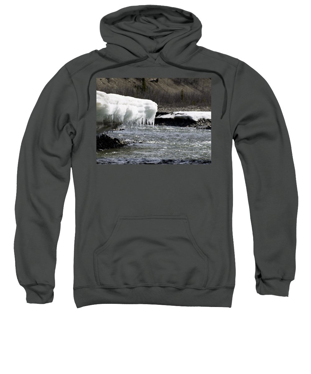 Denali Sweatshirt featuring the photograph Denali Area Icicles by Tara Lynn