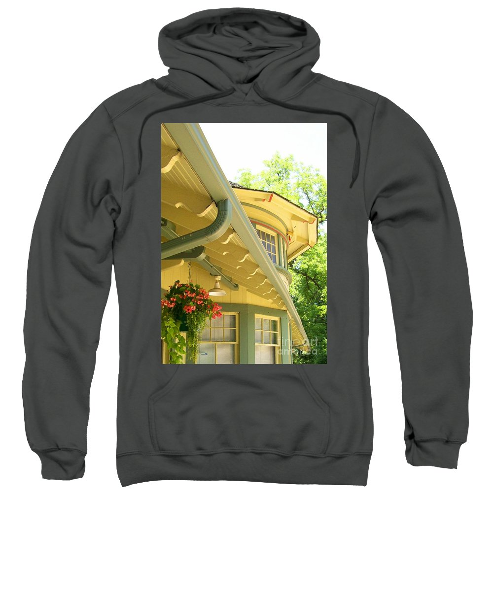 Depot Sweatshirt featuring the photograph Depot by Laurie Eve Loftin