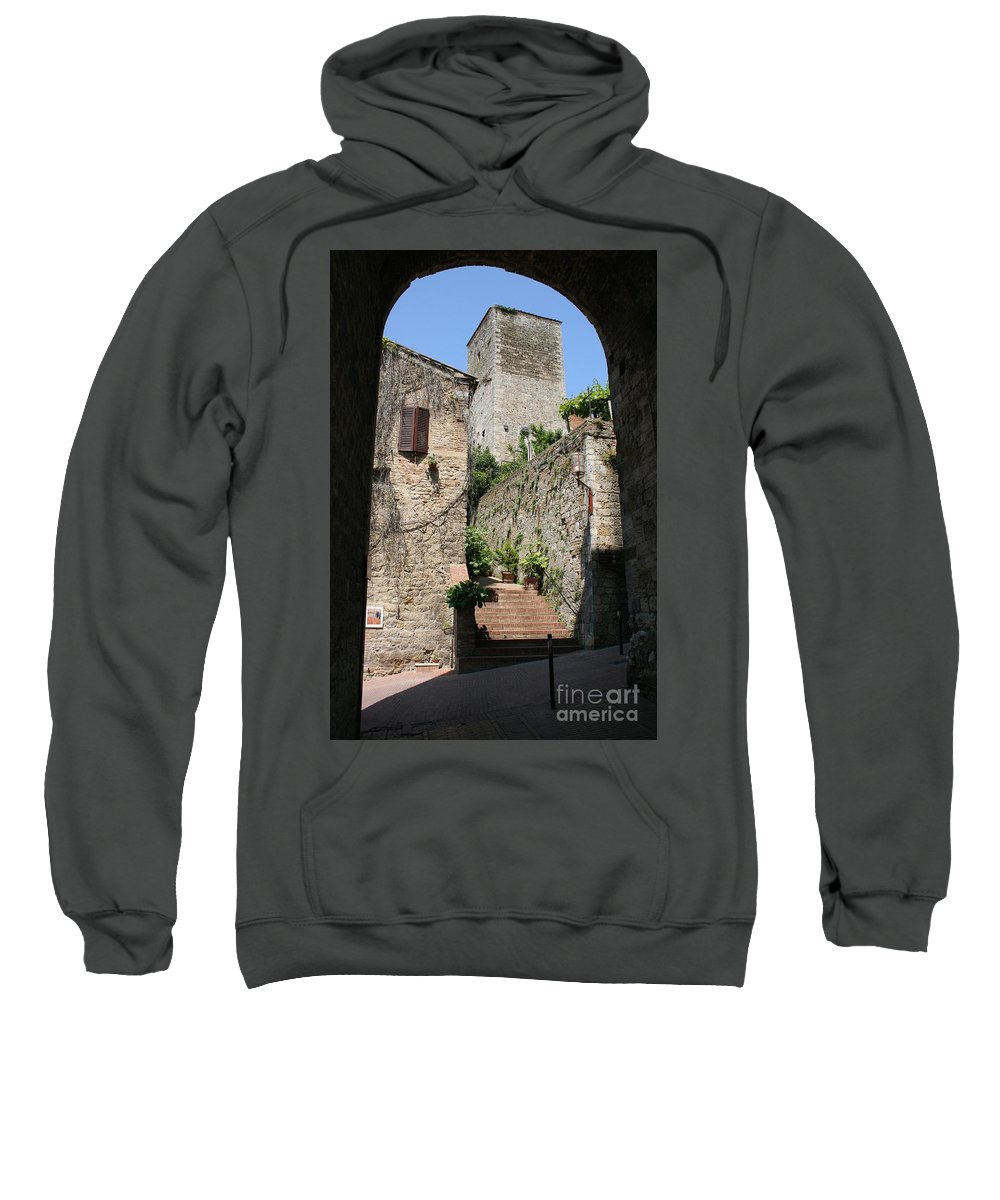 Way Sweatshirt featuring the photograph Desert Alley In San Gimignano by Christiane Schulze Art And Photography