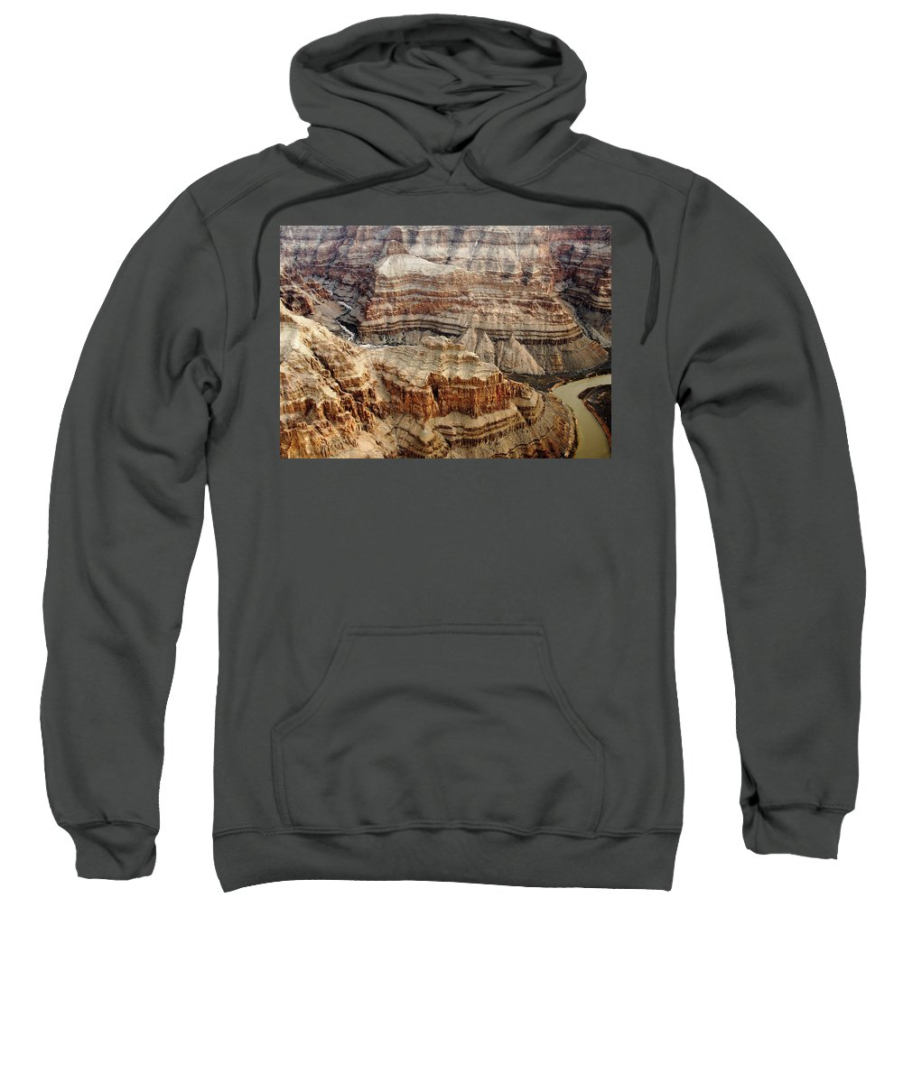 Desert Sweatshirt featuring the photograph Desert Layers by Debbie Oppermann