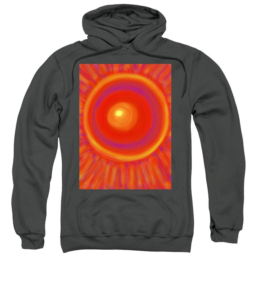 Sun Sweatshirt featuring the painting Desert Sunburst by Daina White