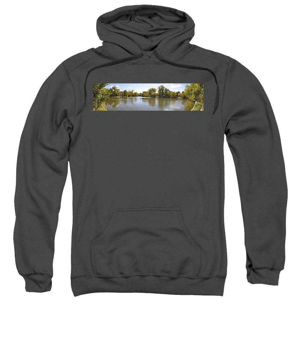Panorama Sweatshirt featuring the photograph Desplaines River by Verana Stark