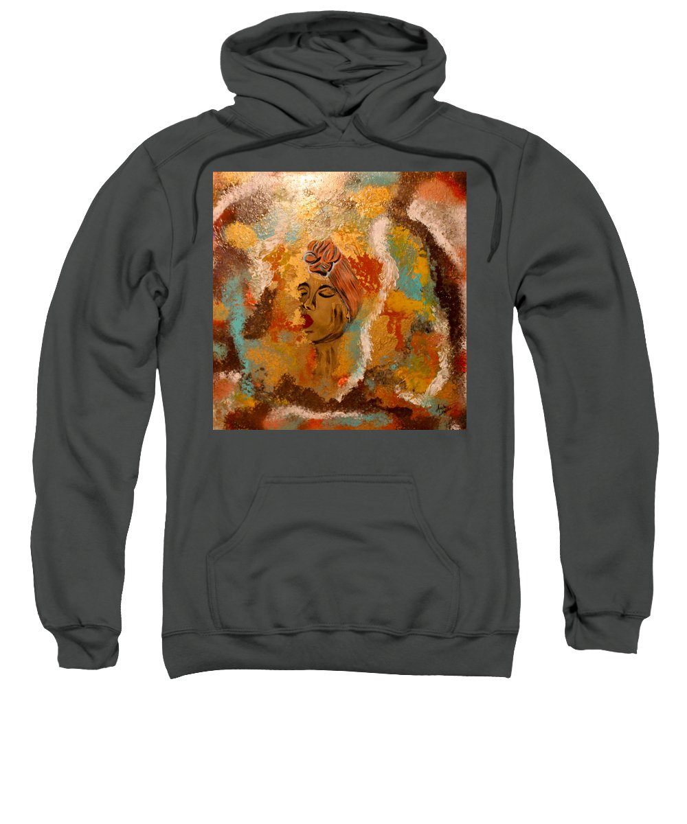 Woman Sweatshirt featuring the mixed media Destiny by Artista Elisabet