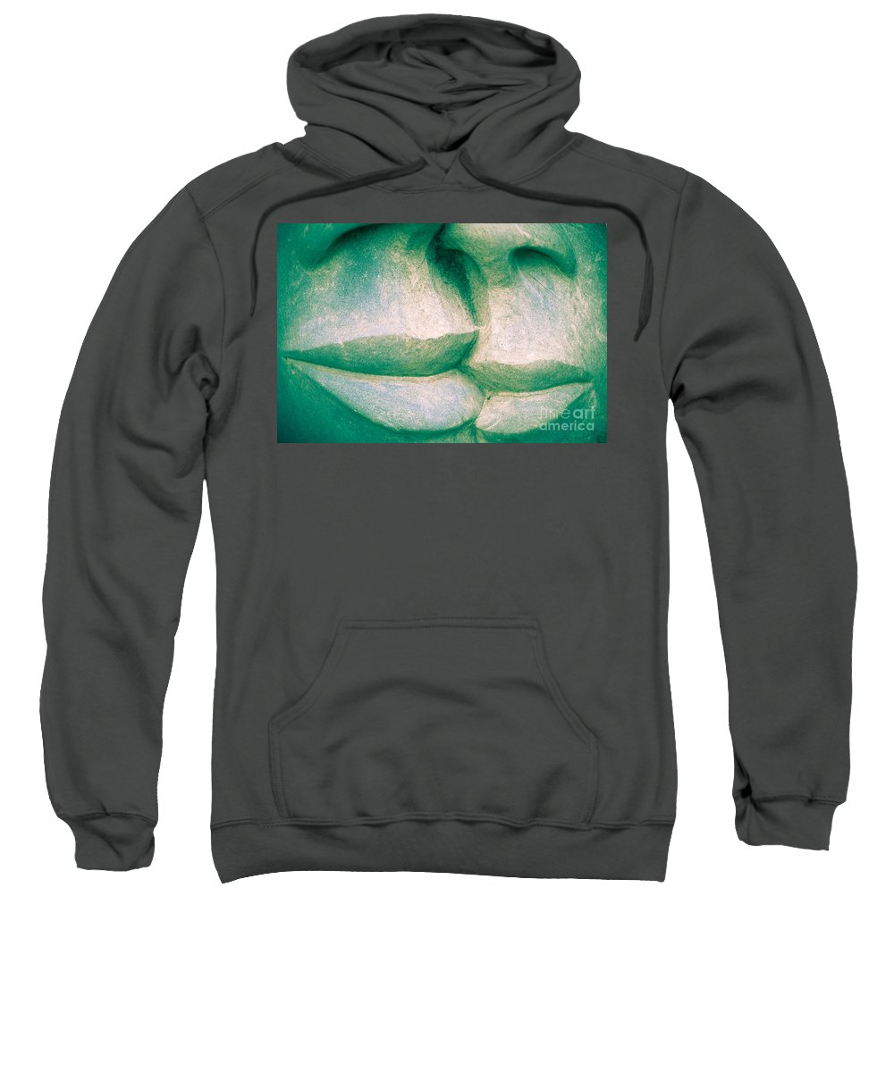 Art Sweatshirt featuring the photograph Detail Of Human Sculpture With Lips Ready To Kiss by Stephan Pietzko