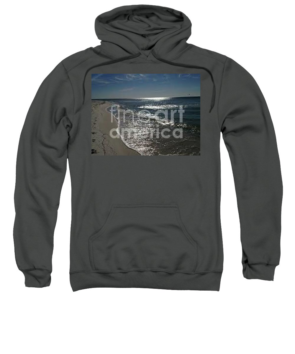 Ocean Sweatshirt featuring the photograph Diamond Mine by Laurie Lundquist