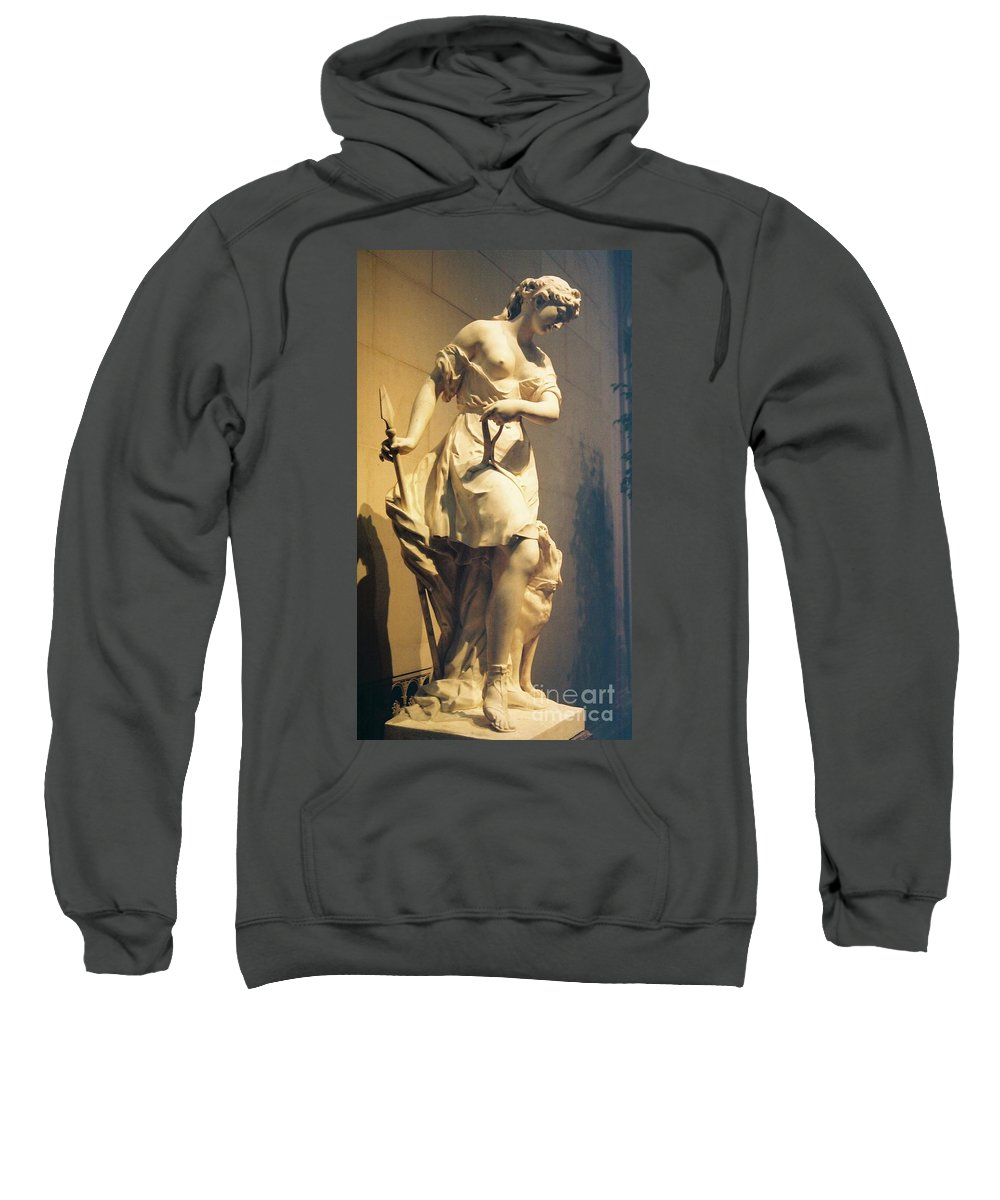 Diana Sweatshirt featuring the painting Diana Goddess Of The Hunt by Eric Schiabor
