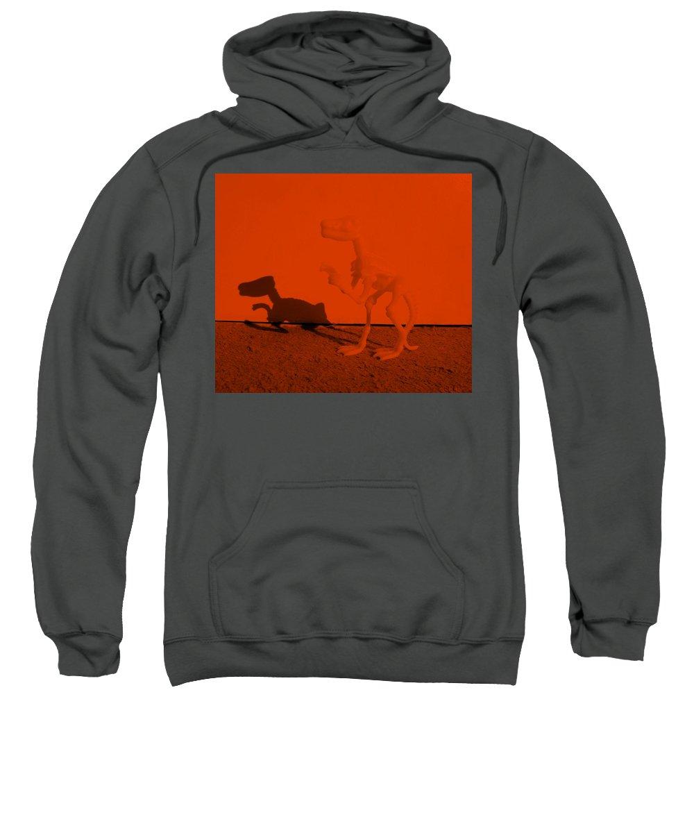 Dinosaur Sweatshirt featuring the photograph Dino Orange by Rob Hans